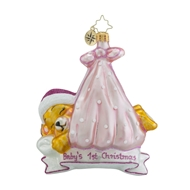 Christopher Radko Special Delivery Girl Babys First Christmas Ornament