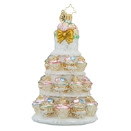 Christpher Radko 2016 Tiers Of Joy Wedding Cake Bridal & Wedding Ornament