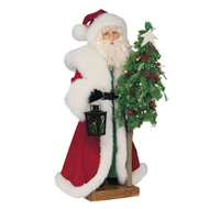Ditz Designs Classic Christmas Table Top Father Christmas Santa With Tree