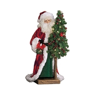 Ditz Designs Yuletide Classic Table Top Santa With Tree 11601