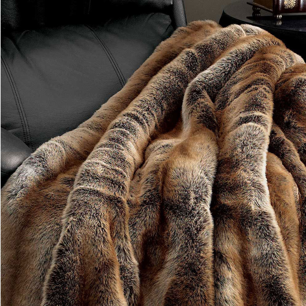 Coyote Faux Fur Throw Blanket Throws Amp Pillow Fabulous