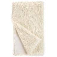 Fabulous Furs Ivory Mongolian Lamb Faux Fur Throw Signature Collection