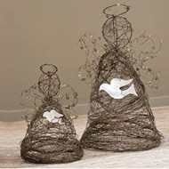 Jeremie Corp Wire Angels With Doves