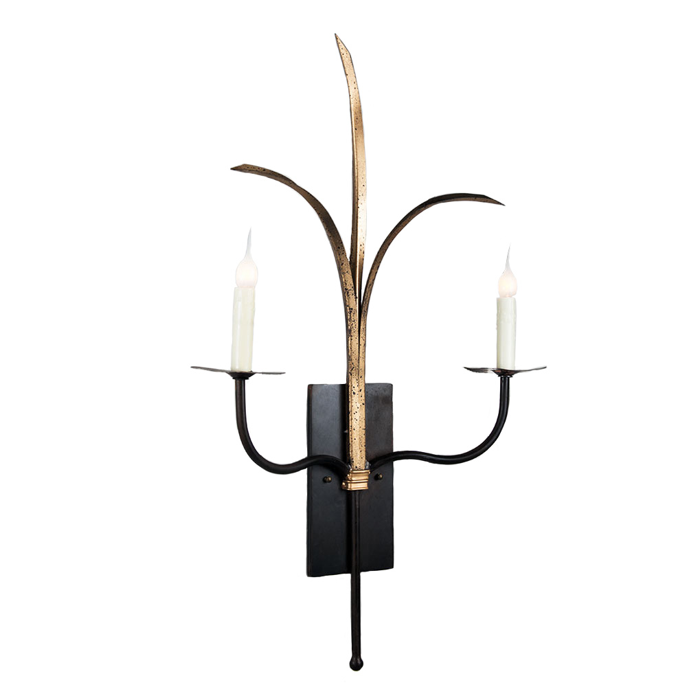 Double Grande Marsh Grass Sconce Made In Usa