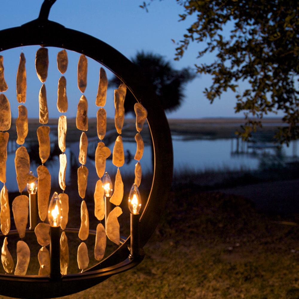Shell ring chandelier made in usa lowcountry originals for Lowcountry lighting