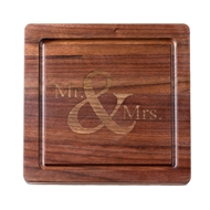 Maple Leaf Square Walnut Personalized Cutting Board