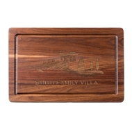 "Maple Leaf 18"" Rectangular Walnut Personalized Cutting Board"
