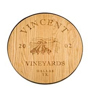 "Maple Leaf 18"" Wine Barrel Lazy Susan  - 18WINELAZY"