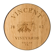 "Maple Leaf 18"" Wine Barrel Wall Plaque  - 18WINEPLQ"