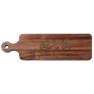 "Maple Leaf Personalized 20"" Walnut Bread Board"