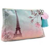 Papaya Art Eiffel Tower Large Accessory Pouch - Women%27s Accessories