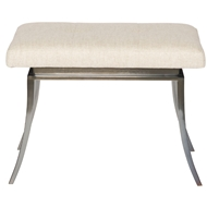 Vnguard Furniture Michael Weiss Barrows Metal Base Ottoman