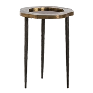 Arteriors Home Brutalist Accent Table DD2068 in Yellow-Brass Sheet