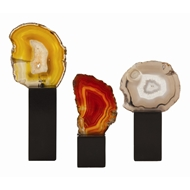 Arteriors Home Fergie Sculptures Set Of 3 9653 Multi-colored - Agate