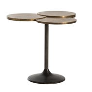 Arteriors Home Trefle Side Table DD2405 in Yellow-Brass Sheet