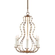 Aidan Gray Lighting Falling Leaves Curves Chandelier Gold L479G-CHAN