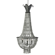 Aidan Gray Lighting Orleans Chandelier Gray L503-GRAY-CHAN-Wood Metal