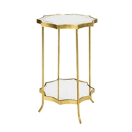 Aidan Gray Home Astre Side Table Two Tier F340 GOLD