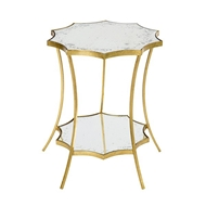 Aidan Gray Home Astre Side Table Two Tier F345 DOUBLE