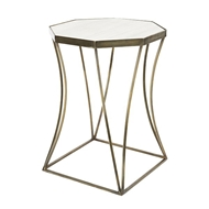 Aidan Gray Home Cuadrado Side Table Antique Brass F238 AB