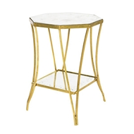 Aidan Gray Home Cuadrado Side Table Two Tier F238 Double