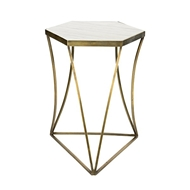 Aidan Gray Home Triangulo Side Table with Marble F347 AB