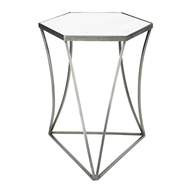 Aidan Gray Home Triangulo Side Table with Mirror F347 STEEL