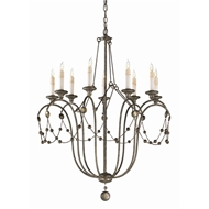 Arteriors Lighting Devon Chandelier With Burnished Silver Finish In Silver