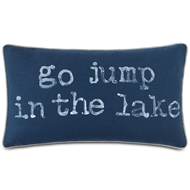 Eastern Accents Go Jump In The Lake Pillows in Greer Linen 87% Cotton, 13% Rayon