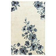 Jaipur Hydrangeas Rug From Blue Collection - Oyster Gray Ombre Blue BL160