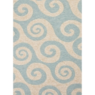 Jaipur Wave Hello Rug From Coastal Lagoon Collection COL12 - Blue/Ivory
