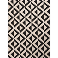 Jaipur Marquise Rug From Patio Collection PAO03 - Ivory/Black
