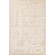 Jaipur Safari Jumble Rug From Playful By Petit Collage Collection PBP05 - Ivory/White