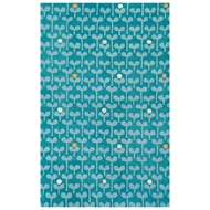 Jaipur Sprouts Rug From Playful By Petit Collage Collection PBP07 - Blue