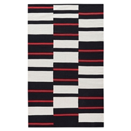 Jaipur African Geometric Rug From National Geographic Home Collection NGC01 - Black/White