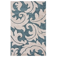 Jaipur Aloha Rug From Blue Collection BL133 - Blue/Ivory
