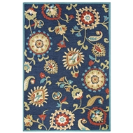 Jaipur Amhurst Rug From Blossom Collection BSM12 - Blue/Yellow