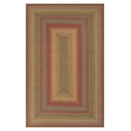Jaipur Azalea Rug From Hudson Jute Braided Rugs Collection HBR01 - Taupe/Red