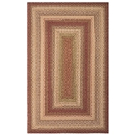 Jaipur Barcelona Rug From Ultra Durable Braided Rugs Collection UBR01 - Red/Ivory