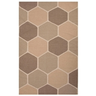 Jaipur Beehive Rug From En Casa By Luli Sanchez LSF32 - Taupe/Tan