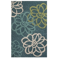 Jaipur Blossomed Rug From Catalina Collection CAT08 - Blue/Ivory