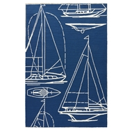 Jaipur Blueprint Rug from Coastal Lagoon Collection COL51 - Blue/White