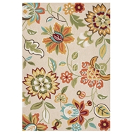 Jaipur Botanic Rug From Blossom Collection BSM03 - Taupe/Tan