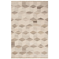 Jaipur Brag Rug From Collins Collection COI02 - Ivory/Beige