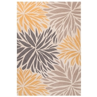 Jaipur Burst Rug From Mystique Collection MYS02 - Yellow/Dark Gray