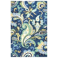 Jaipur Calico Rug From Barcelona I-O Collection BA23 - Blue/Green