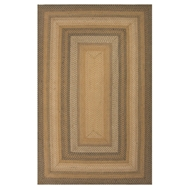 Jaipur Coffee Rug From Hudson Jute Braided Rugs Collection HBR03 - Taupe/Green