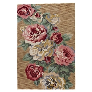 Jaipur Corsage Rug From Flora Collection FLO06 - Brown/Pink