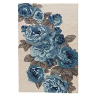 Jaipur Corsage Rug From Flora Collection FLO07 - White/Blue