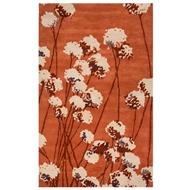 Jaipur Cotton Blossom Rug From En Casa By Luli Sanchez LST31 - Orange/Ivory